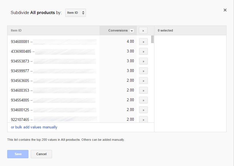 购物营销活动创建产品组按商品ID人工